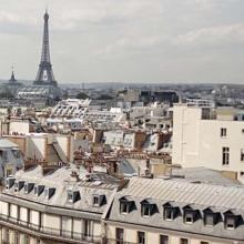 Paris - Madeleine and Eiffel Tower