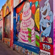 Street art at Clarion Street, Mission, San Francisco, California, USA