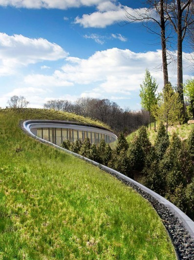 Brooklyn Botanic Gardens Visitor Center, Location: Brooklyn NY, Architect: Weiss Manfredi Architects