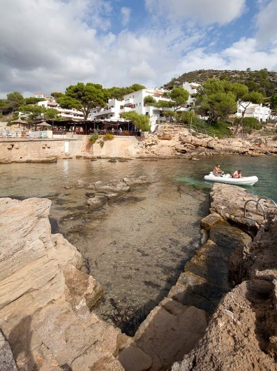 Cala Conills, Restaurant, Sant Elm, Mallorca, Spain