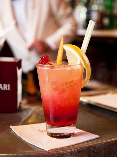 The Campari Bar in Galleria Emmanuele