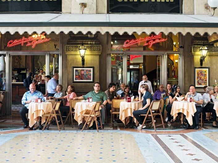The Campari Bar in Galleria Emmanuele