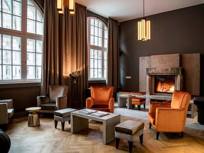 Kaminzimmer in Oderberger Hotel, GLS Sprachenzentrum