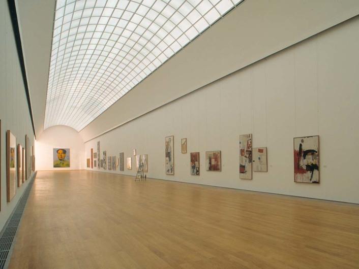 Aufnahmedatum: 1997<BR>Aufnahmeort: Berlin<BR>Systematik: <BR>Geographie / Europa / Deutschland / Orte / Berlin / Geb‰ude f¸r Kultur und Bildung / Museen, Ausstellungsgeb‰ude / SMPK / Hamburger Bahnhof - Museum f¸r Gegenwart