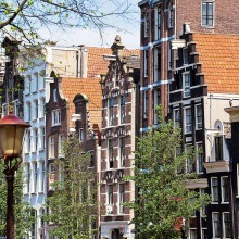 Monumentale Häuser an der Herengracht