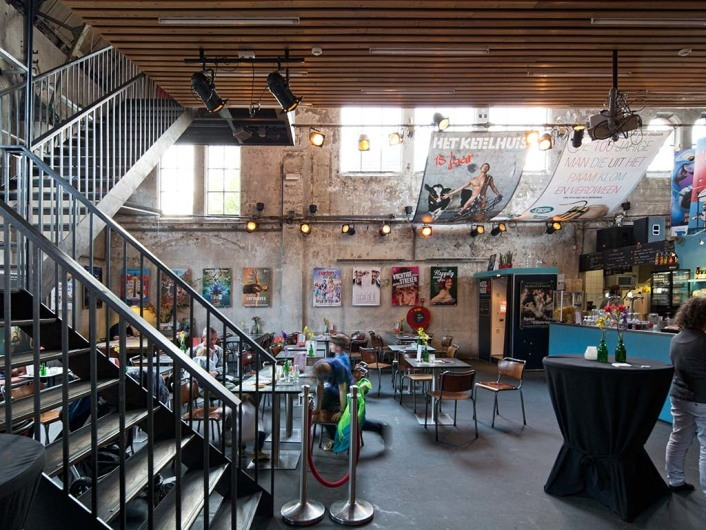 Cinema in former factory at Wester Gasfabriek showing independ movies