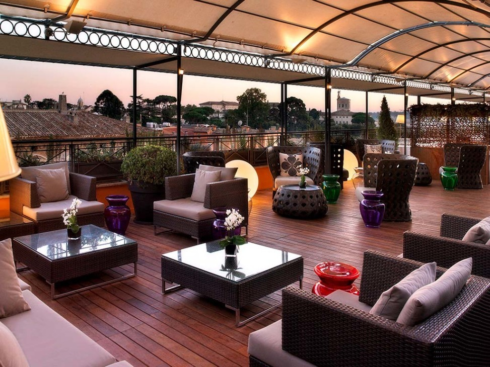 L olimpo roof restaurant for Terrace bar menu
