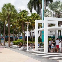 Lincoln Road Mall, South Beach, Miami Beach, Florida, USA