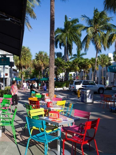 Lincoln Road Mall, South Beach, Miami Beach, Florida, USA