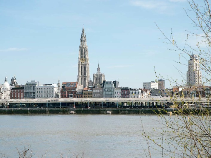 left bank of Schelde river