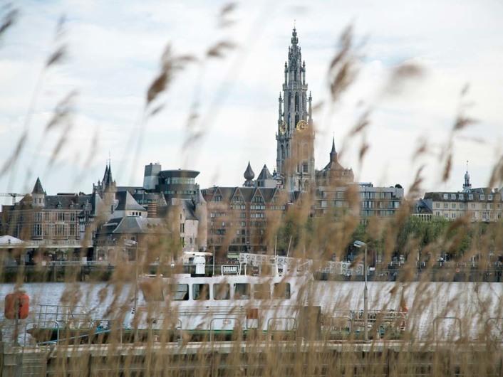 left bank of Schelde river
