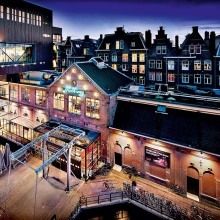 Melkweg, Amsterdam; Avondopname met nieuwe zaal