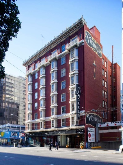 Mosser Hotel facade, San Francisco, California, USA