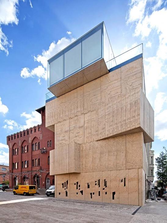 Tchoban foundation museum f r architekturzeichnung for Interlocking architecture concept