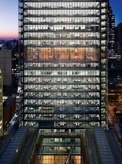New York Times Building, Location: New York NY, Architect: Renzo Piano Building Workshop with FX Fowle Architects