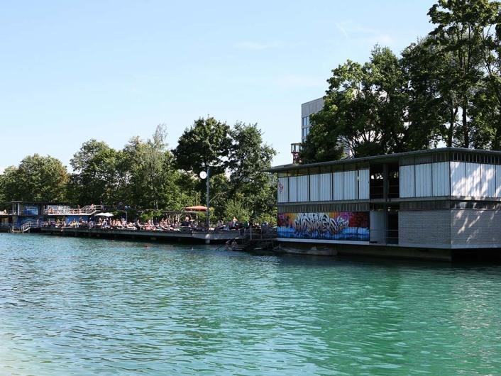 Flussbad Oberer Letten, Zurich, Switzerland