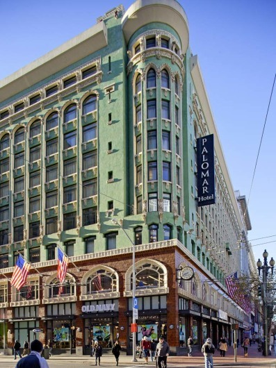 Hotel Palomar, San Francisco, California, USA, facade