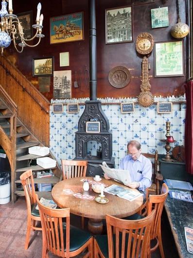 Bruin Café (braunes Café) Papeneiland, Prinsengracht Ecke Brouwersgracht