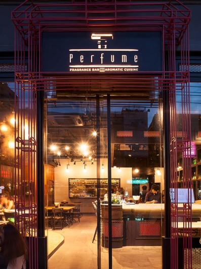 Perfume - fragrance bar and aromatic cuisine, Bangkok, Thailand