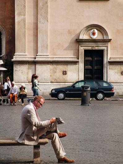 Piazza Navona mit Vier-Ströme-Brunnen - ROM