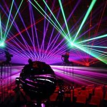 Galactica - Sternensaal des Planetarium Hamburg im Laserlicht