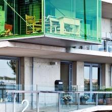 Moderne Architktur beim Wohnungsbau auf der Insel Borneo