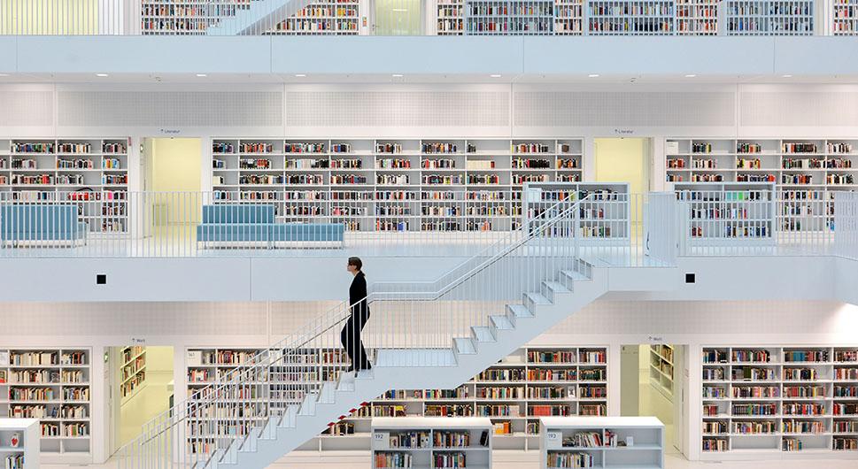 Stadtbibliothek Bibliothek Stuttgart - Bibliothek des Jahres 2013 Features (Foto: Martin Lorenz) (Martin Lorenz; Schelmenpfad 9; 71701 Schwieberdingen; +49160 960 538 46; mail@martinlorenz.net)