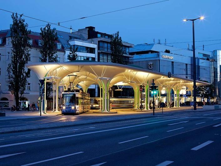 Tramhaltestelle Münchner Freiheit