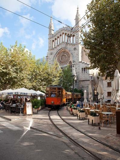 Tren de Soller, Soller, Port de Soller, Mallorca, Spain