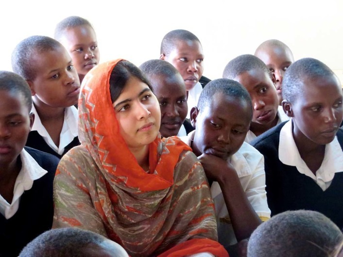 HE NAMED ME MALALA: Malala Yousafzai at the Kisaruni Girls School in Massai Mara, Kenya. May 26, 2014. Photo courtesy of Fox Searchlight Pictures.© 2015 Twentieth Century Fox Film Corporation All Rights Reserved