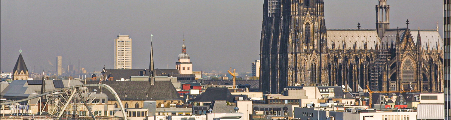 Cologne city View with part of the dome