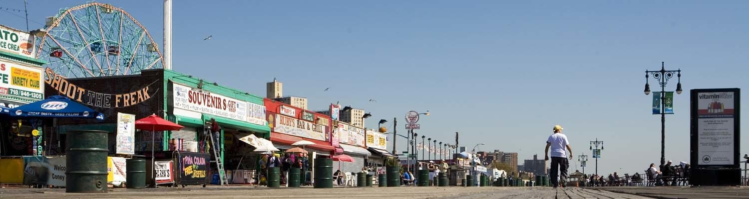 Strandpromenade in Coney Island