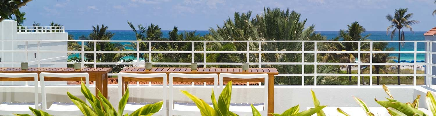 Terrasse des Dream South Beach Hotels