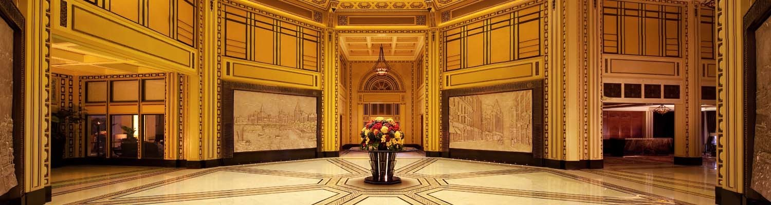 Lobby of Fairmont Peace Hotel