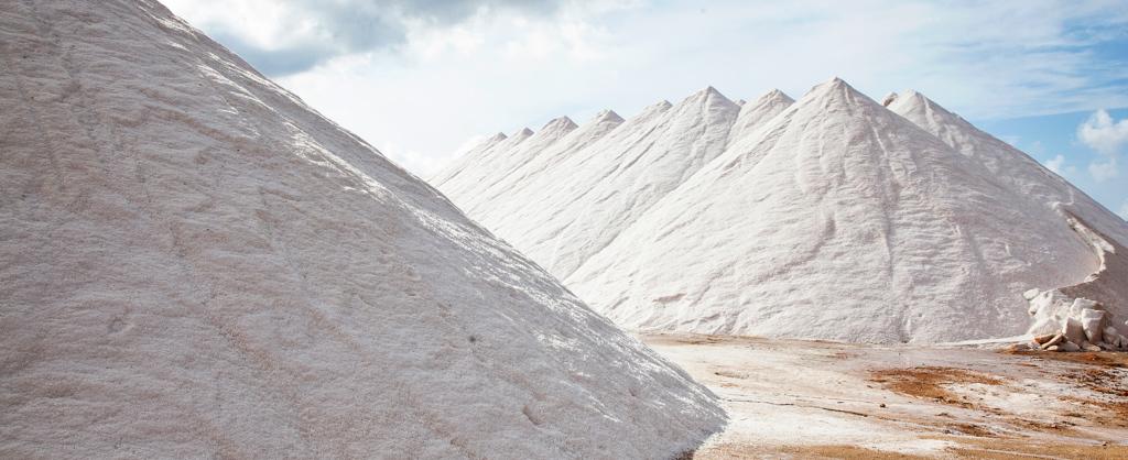 Flor de Sal des Trenc Salt Mountain