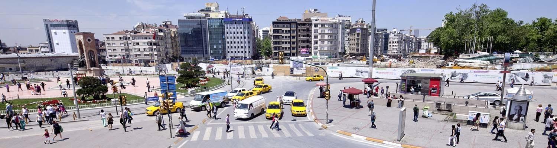 Straßenszene in İstiklal