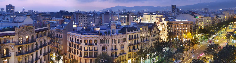 Blick auf das Mandarin Oriental Barcelona