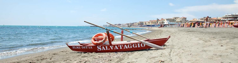 Am Strand von Lido di Ostia