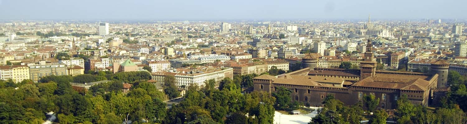 View over the Parco Sempione