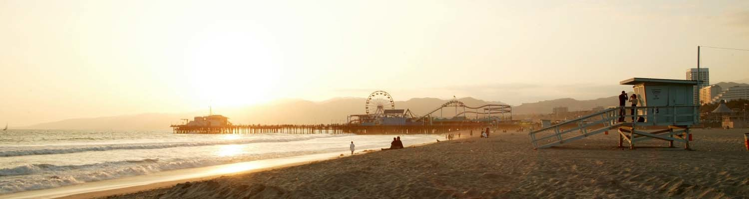 Abendstimmung in Santa Monica, Los Angeles