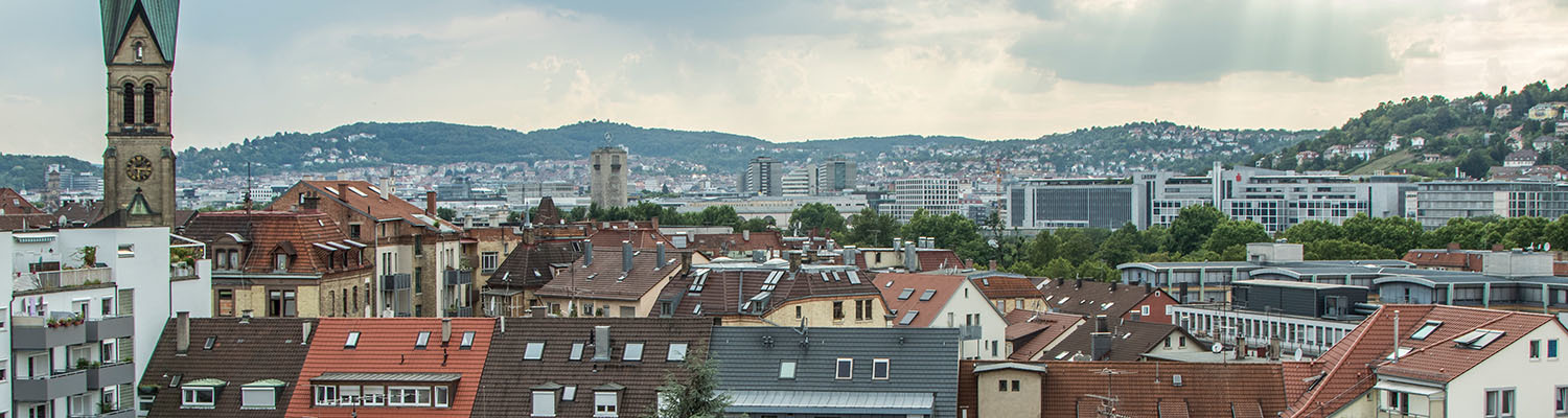 City View over Stuttgart from the Eastside