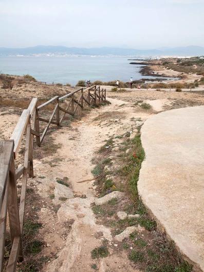 Weg von Can Pastilla nach Palma de Mallorca, Spain